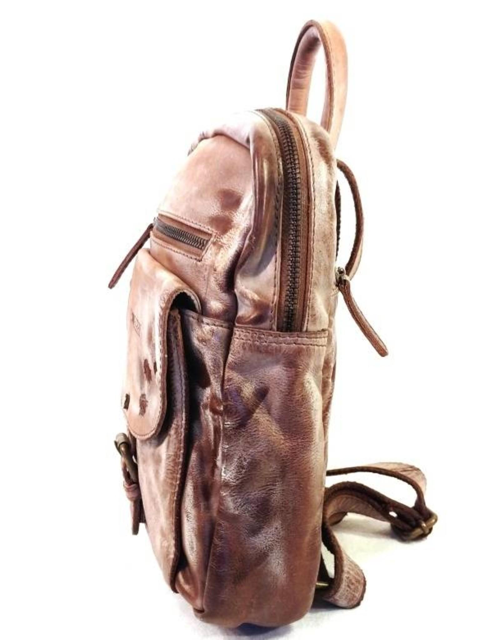 HillBurry Leren rugzakken - HillBurry leren rugzak van gewassen leer 2436