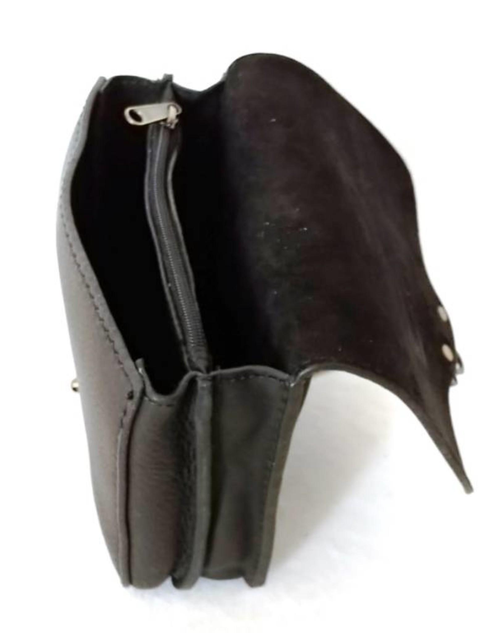 HillBurry Leren tassen -Hillburry leren riemtas zwart 3156