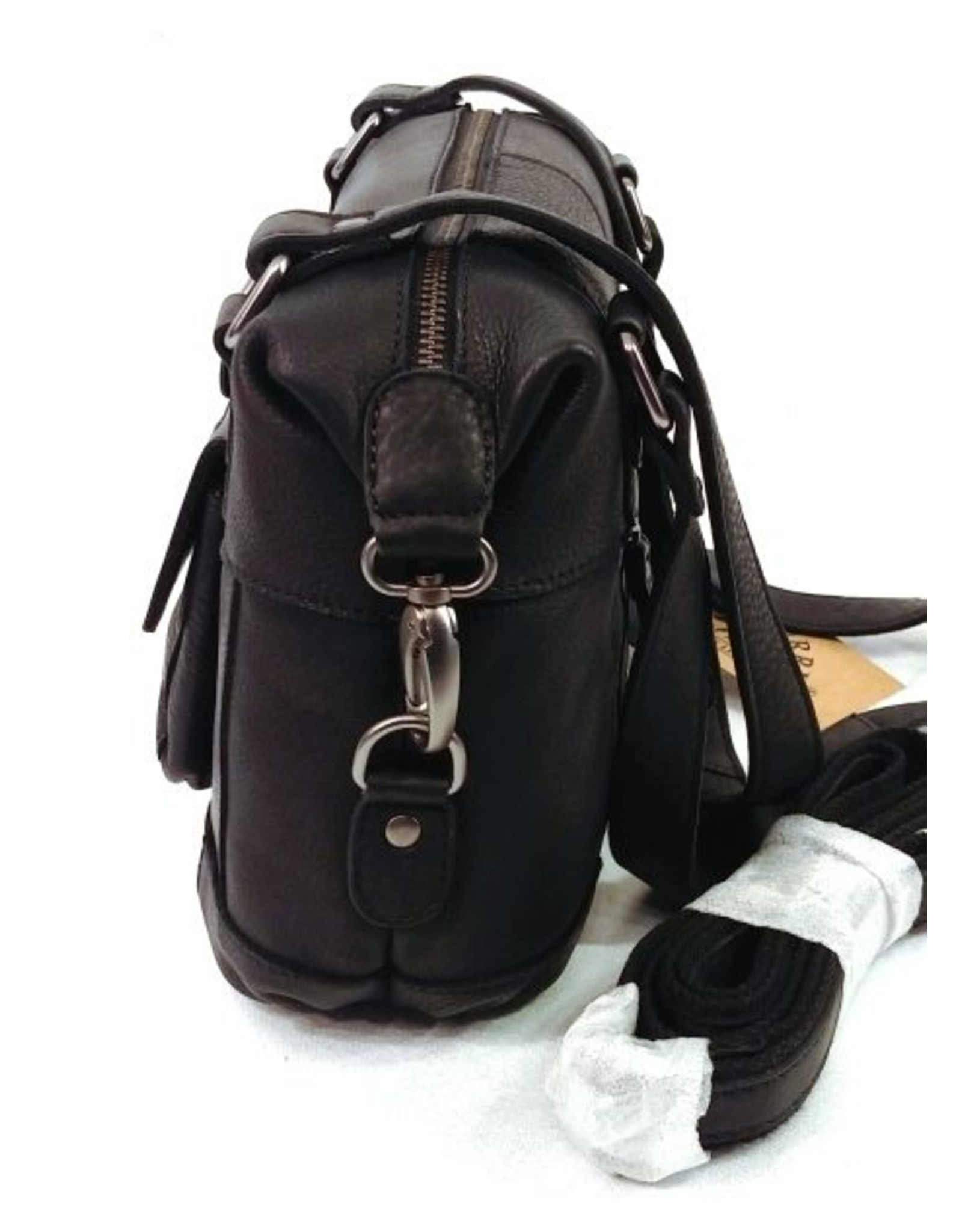 HillBurry Leather Shoulder bags  leather crossbody bags - HillBurry leather shoulder bag medium (black)