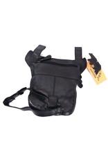 HillBurry Leather bags - HillBurry leather belt bag leg bag washed leather black
