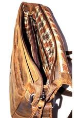HillBurry Leren tassen - Hillburry leren schoudertas bruin 6309