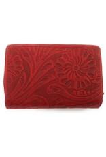 HillBurry Leren Portemonnees - Hillburry leren portemonnee 13092f-rood