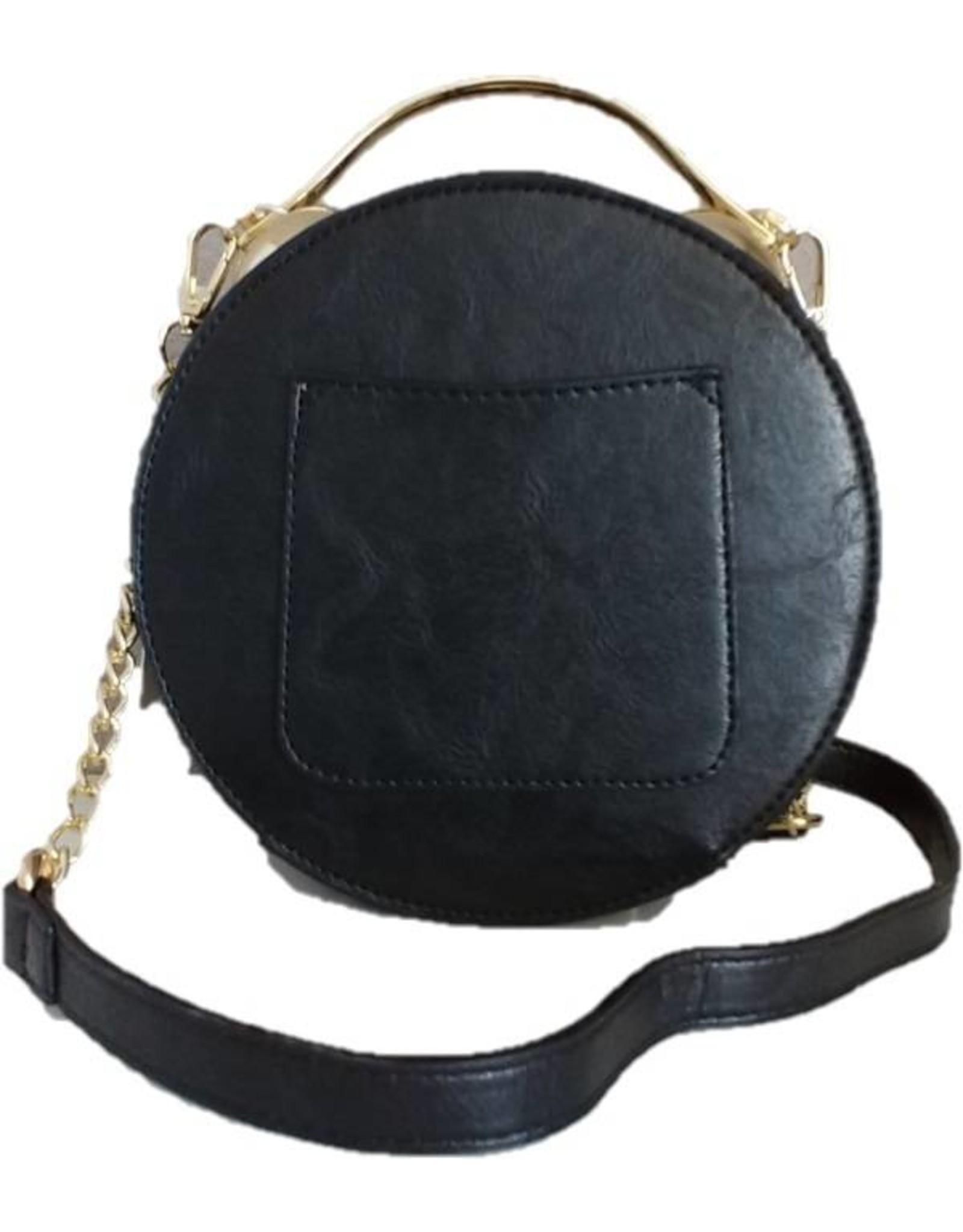 Trukado Fantasy bags - Fantasy shoulder bag with working clock black