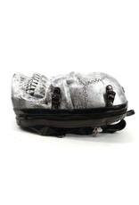 Dark Desire Gothic bags Steampunk bags - Dark Desire silver backpack skull 3D
