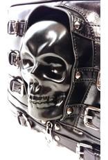 Dark Desire Gothic tassen Steampunk tassen - Gothic tas 3D skull en gespen