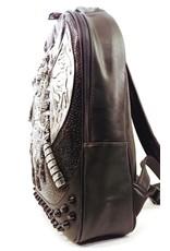 Dark Desire Gothic tassen Steampunk tassen - gothic 3D rugzak Viking zilver