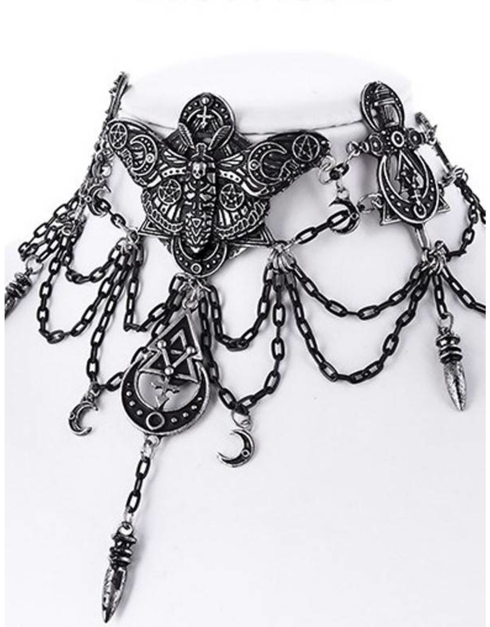 Restyle Occult en Gothic accessoires - Occult Moth Choker Restyle