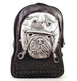 Sold out - Dark Desire Gothic 3D Backpack Bulldog silver