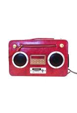 Magic Bags Fantasy tassen - Magic Bags Retro tas met WERKENDE Radio rood