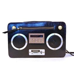 Magic Bags Retro tas met WERKENDE Radio zwart