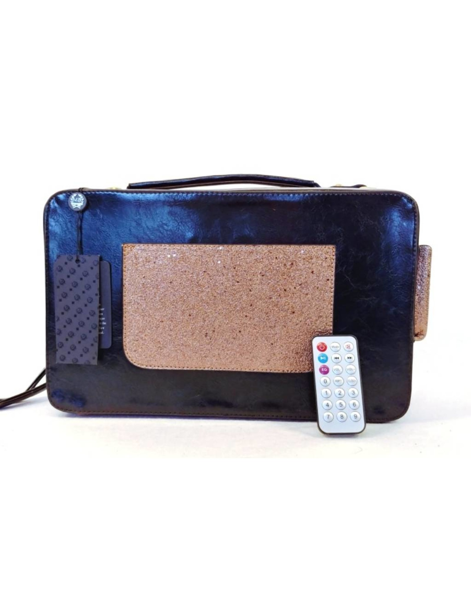 Magic Bags Fantasy tassen - Magic Bags Retro tas met werkende Radio zwart