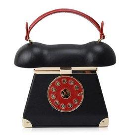 Retro Telefoon tas zwart