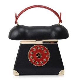 Retro Telephone bag black