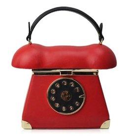 Retro Telephone bag red