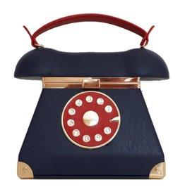 Retro Telephone bag blue