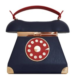RetroTelefoon tas blauw