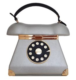 Magic Bags Retro Telefoon tas zilver
