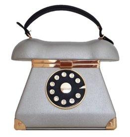 Retro Telefoon tas zilver