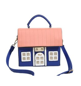 Fantasy Tas Huis blauw