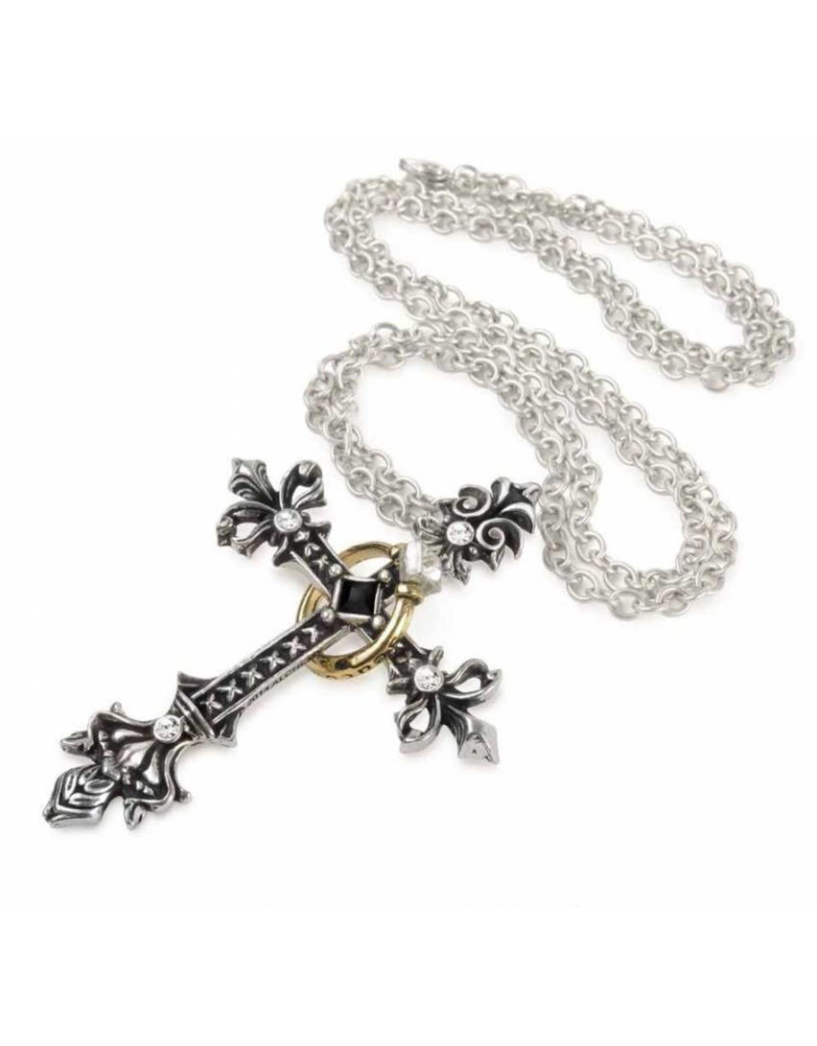 Alchemy Gothic sieraden Steampunk sieraden -  Maryam Theotokos Ring Cross hanger en ketting Alchemy