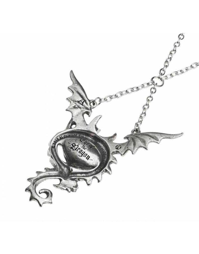 Fantasy en gothic sieraden - Eye Of The Dragon colier Alchemy