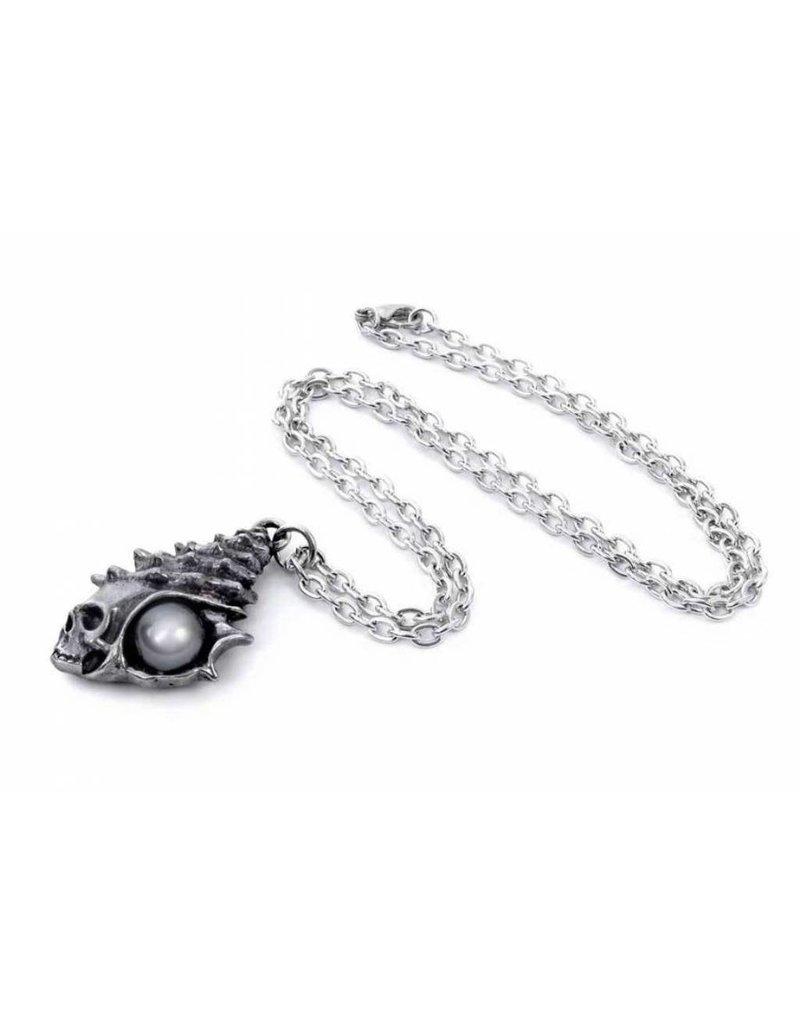 Alchemy Gothic  en Occult sieraden - The Black Pearl of Plage Noire hanger en ketting Alchemy