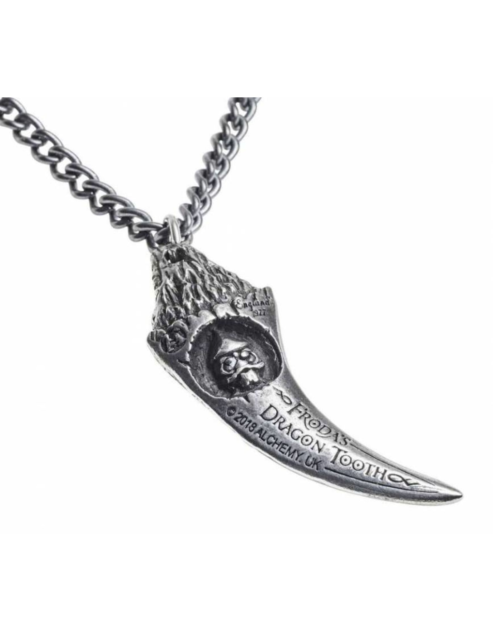 Alchemy Celtic,- Viking,- Gothic accessories - Frodas Dragon Tooth Alchemy pendand en necklace