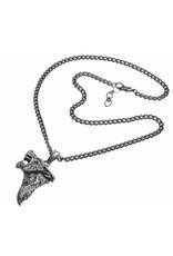 Alchemy Gothic accessories - Dark Wolf pendant and chain Alchemy
