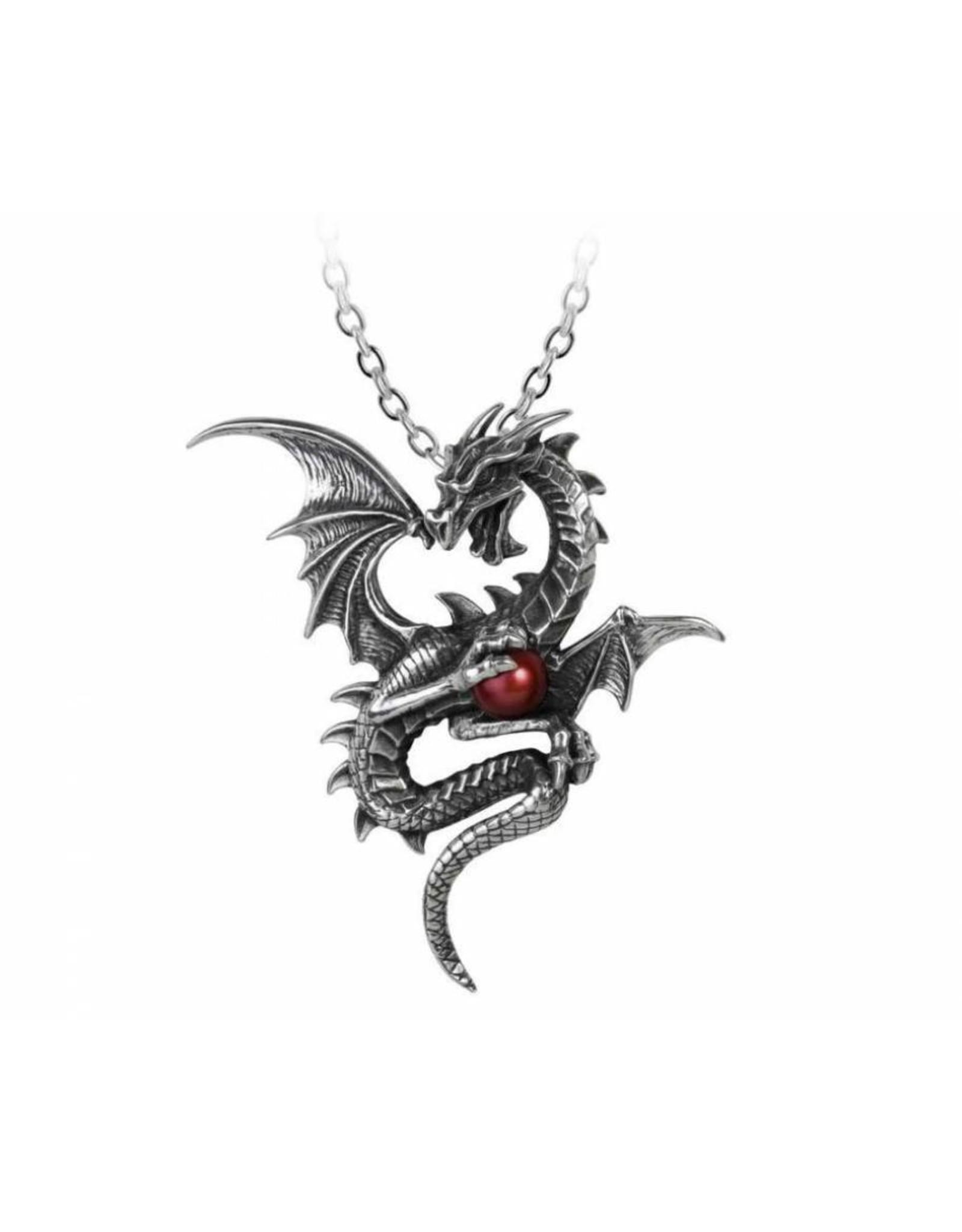 Alchemy Gothic jewellery Steampunk jewellery -  Dragon necklace Aethera Draconem - Alchemy
