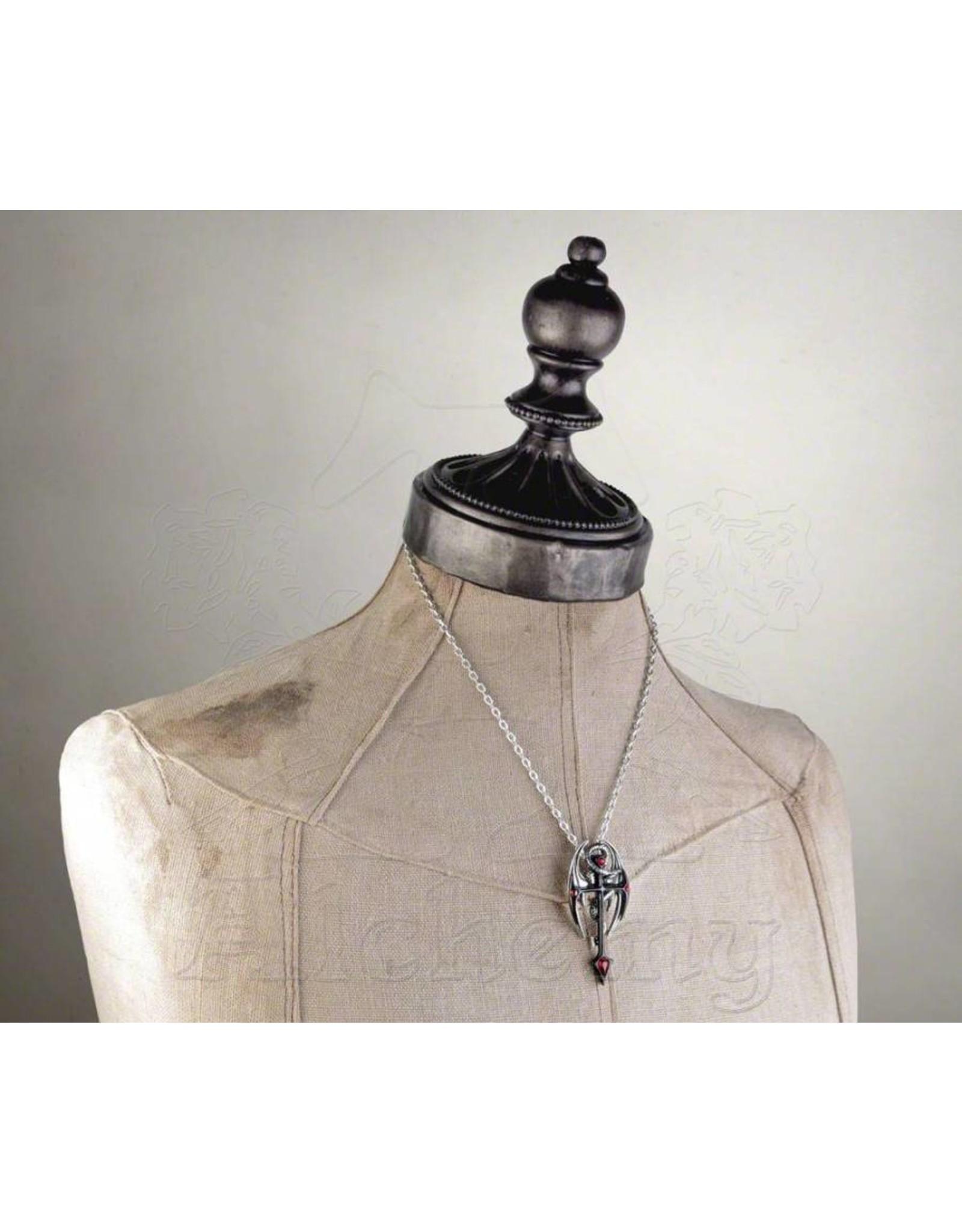 Alchemy Gothic sieraden en accessoires - Dragonkreuz hanger en ketting Alchemy