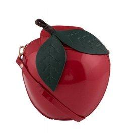 Retro schoudertas Appel rood