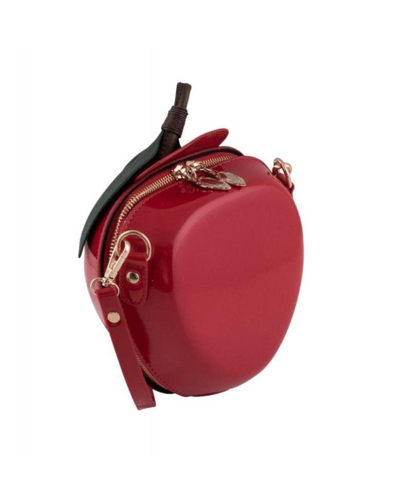 Vintage en Retro tassen -  Retro schoudertas Appel rood