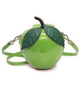 Retro schoudertas Appel groen