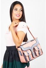 Retro tassen Vintage tassen - Retro handtas Freya roze