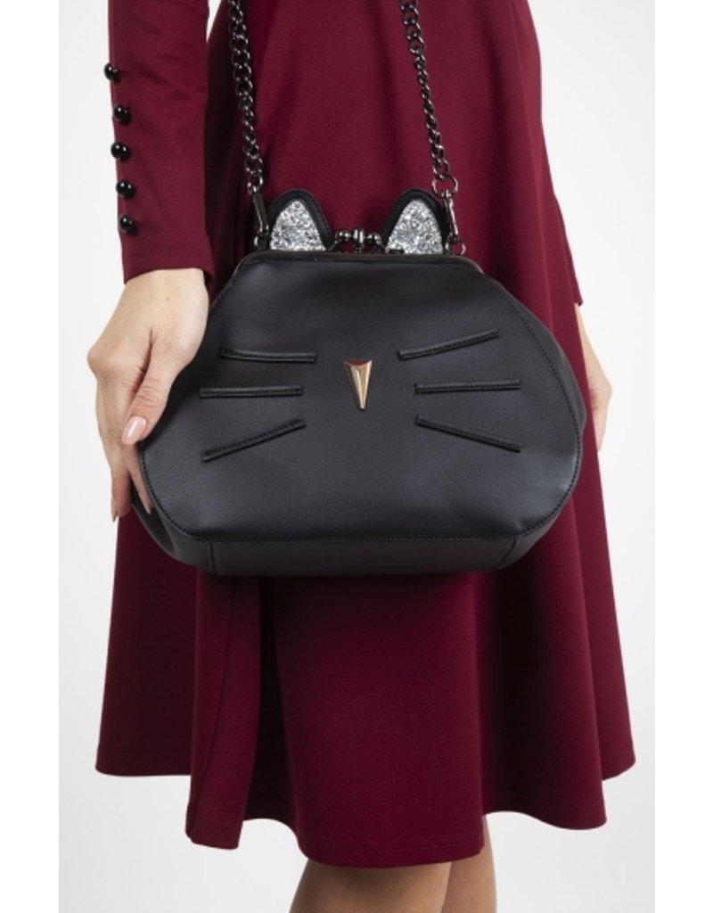 Retro tassen Vintage tassen - Voodoo Vixen Pheobie Black Kitty schoudertas