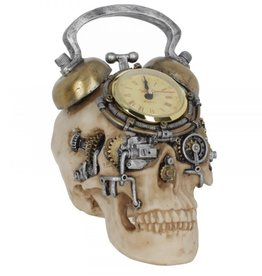 Alator Skull met working clock The Final Countdown