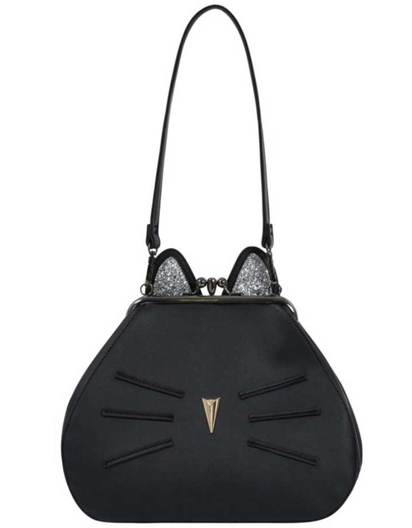 Voodoo Vixen Retro tassen Vintage tassen - Voodoo Vixen Pheobie Black Kitty schoudertas