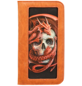 World of 3D Phone Wallet Dragon and Skull 3D