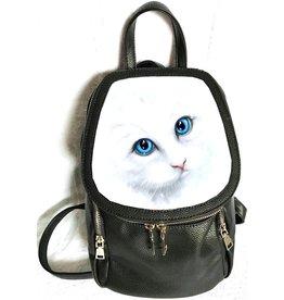 Linda M. Jones Winter Cat Rugtas met 3D afbeelding