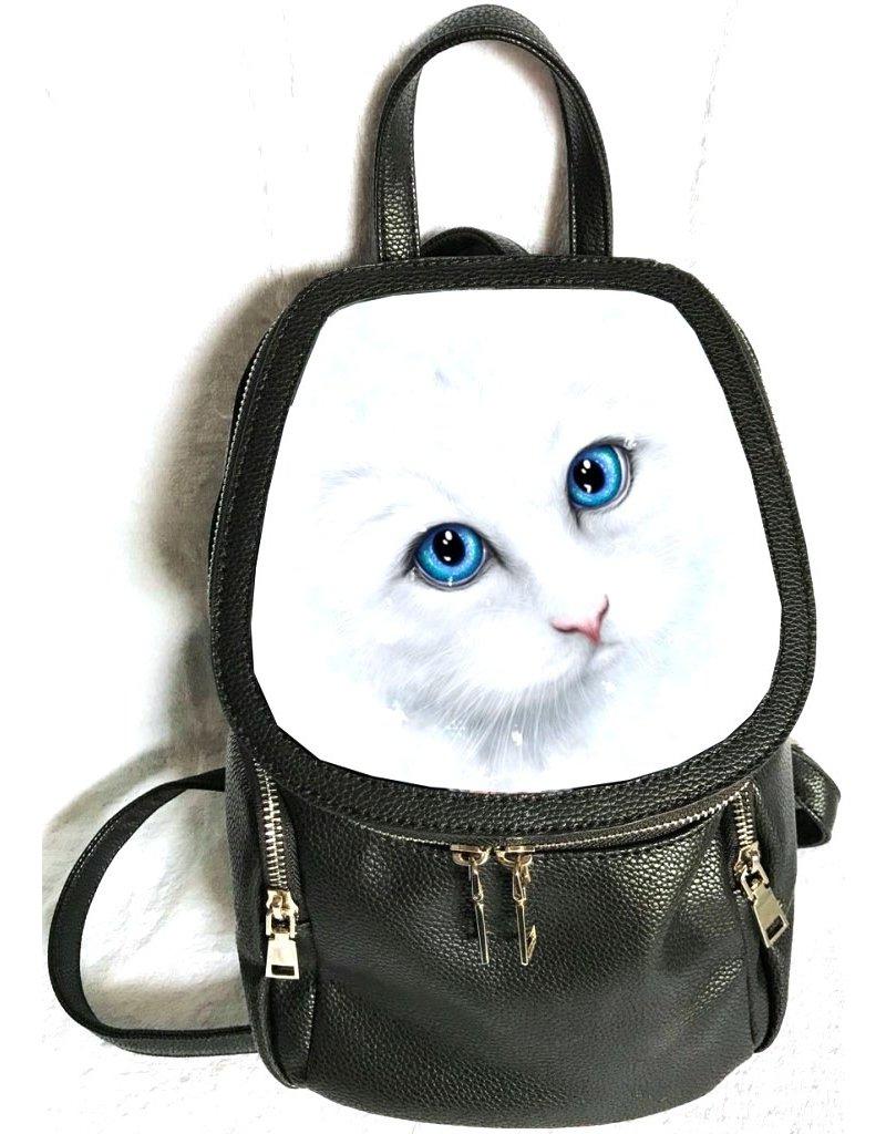 Fantasy tassen -  Linda M. Jones Winter Cat Rugtas 3D