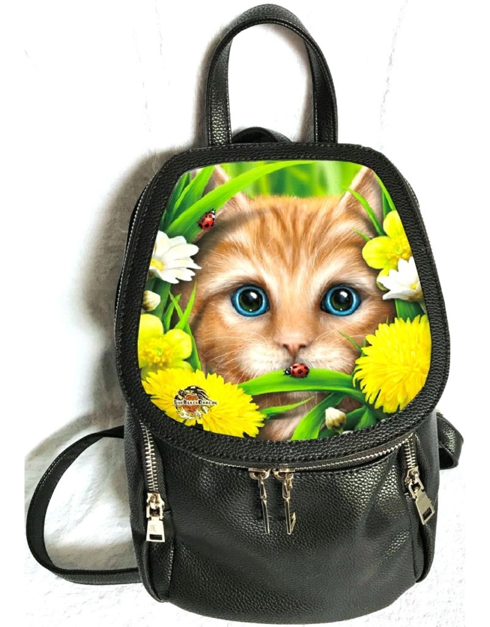SheBlackDragon 3D Bags and Backpacks - Linda M. Jones Summer Cat Backpack 3D