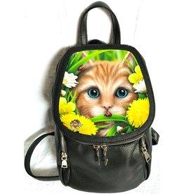 SheBlackDragon Linda M. Jones Summer Cat Rugtas met 3D afbeelding