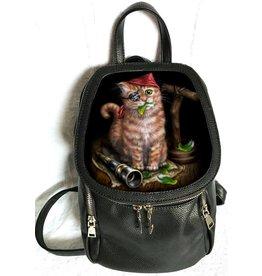 Linda M. Jones Pirate Kitten Rugtas met 3D afbeelding