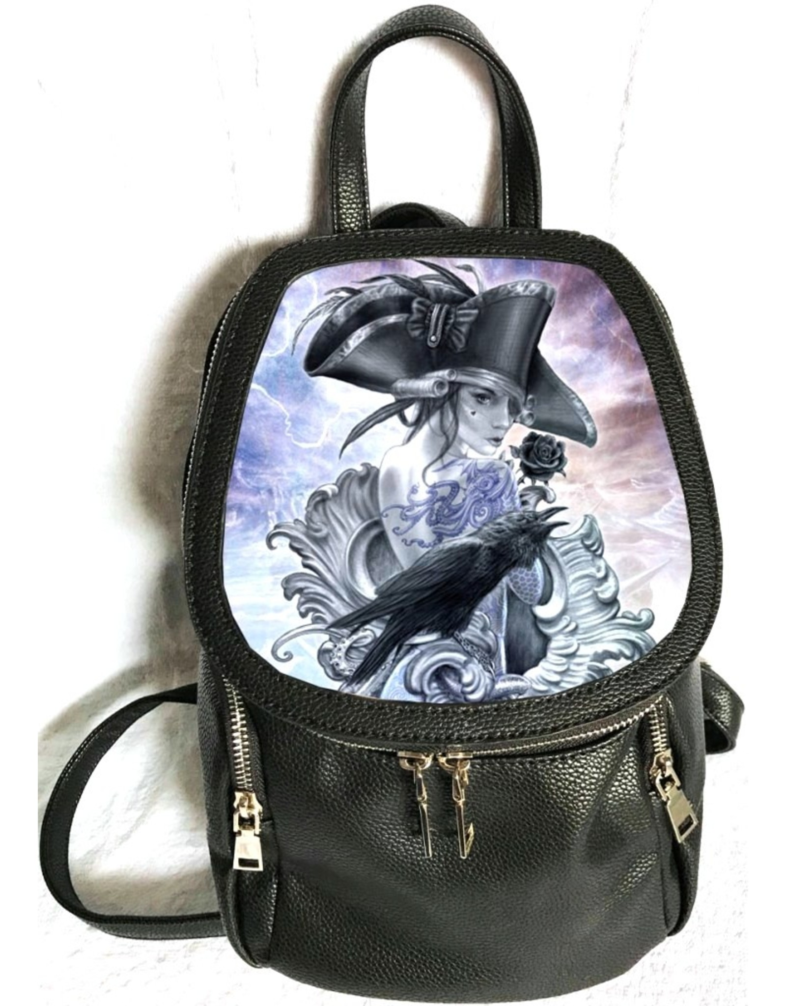 SheBlackDragon Gothic tassen Steampunk tassen - Linda M. Jones Stormcrow Rugtas 3D