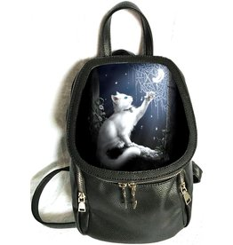 Linda M. Jones Snow Kitten Backpack with 3D image