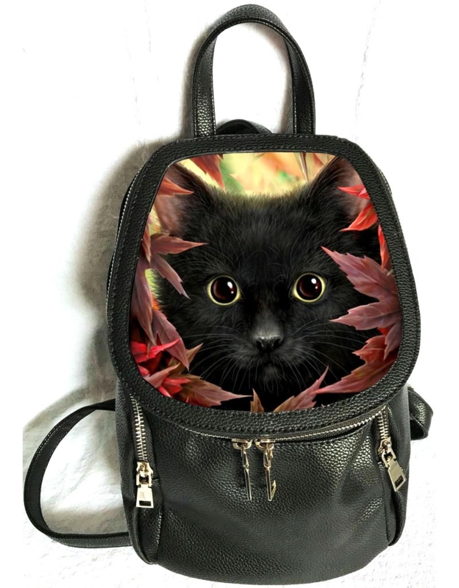 SheBlackDragon 3D Bags and Backpacks - Linda M. Jones Autumn Cat Backpack 3D
