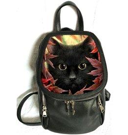 Linda M. Jones Autumn Cat Rugzak met 3D afbeelding