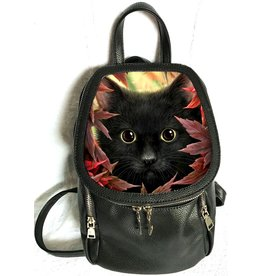SheBlackDragon Linda M. Jones Autumn Cat Backpack with 3D image