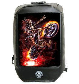 Bad to the Bone Hell Rider Backpack with 3D image