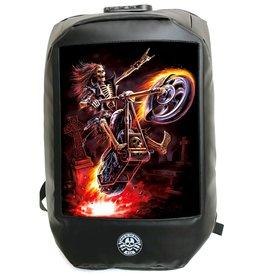 Bad to the Bone Hell Rider Rugzak met 3D afbeelding